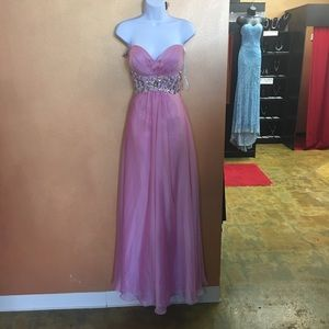 Strapless Alyce Gown